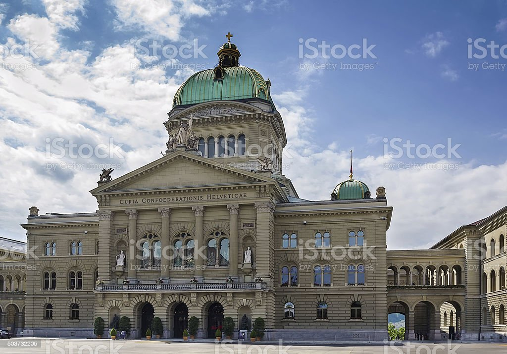 Federal Palace of Switzerland, Bern stock photo