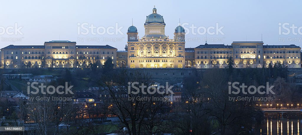 Federal Palace of Switzerland royalty-free stock photo