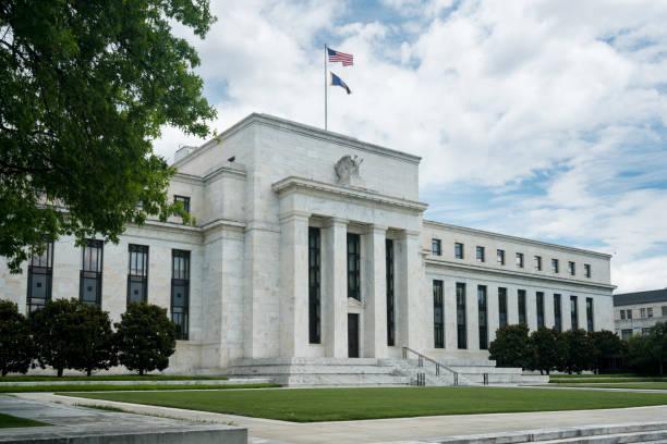Federal Reserve building HQ Washington DC stock photo