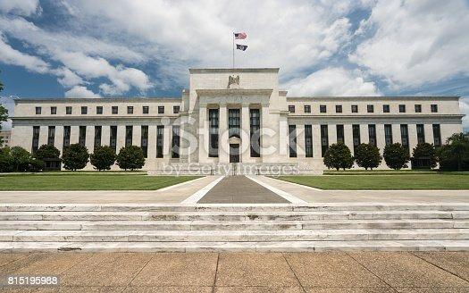istock Federal Reserve building HQ Washington DC 815195988