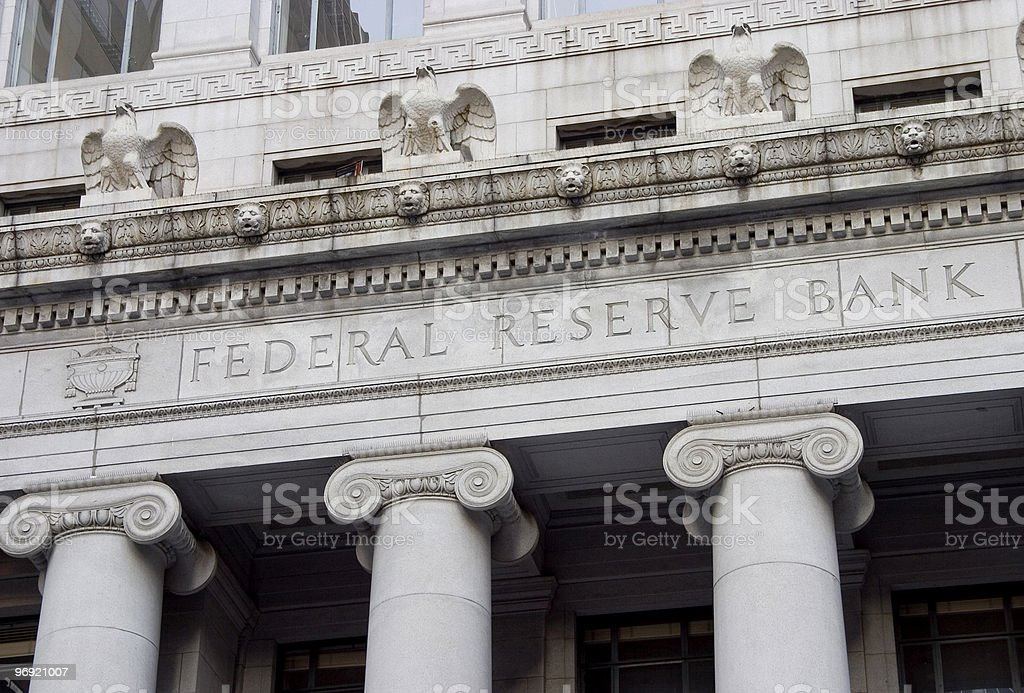 Federal Reserve Facade 1 royalty-free stock photo