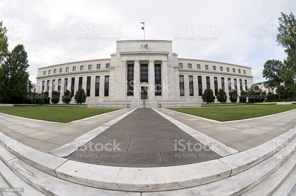 US Federal Reserve Facade royalty-free stock photo