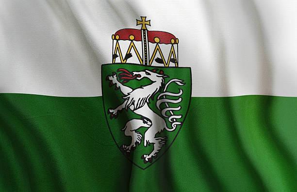 Federal State Flag of Styria Austria stock photo