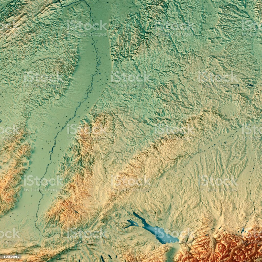 Federal State Of Badenwürttemberg Germany 3d Render Topographic Map ...