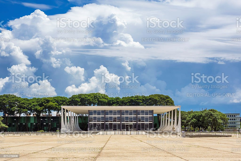 Federal Supreme Court in Brasilia, Capital of Brazil stock photo