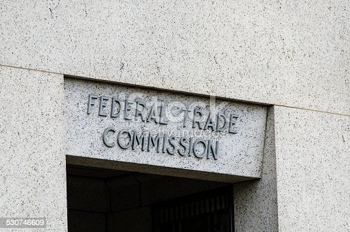 The building of the Federal Trade Commission in downtown Washington DC.