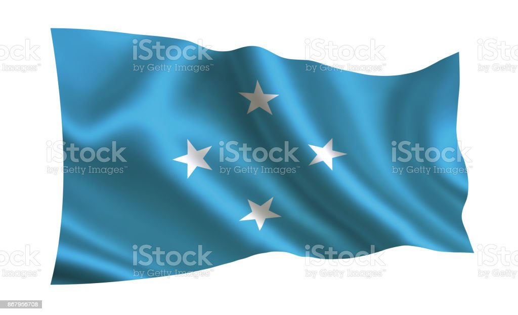 Federated States of Micronesia flag. A series of 'Flags of the world.'  ( The country - Federated States of Micronesia flag ) stock photo
