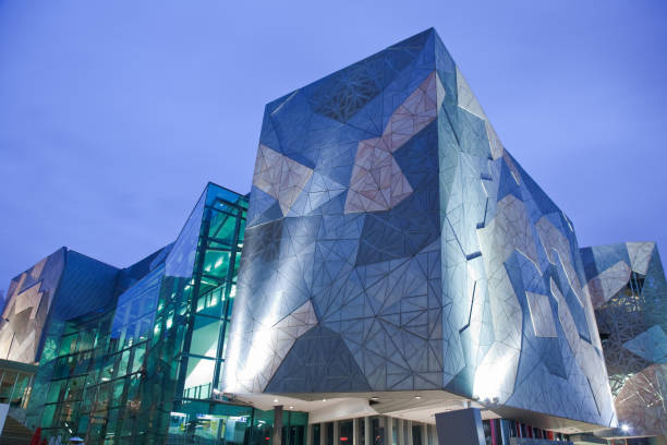 Federation Square Buildings stock photo