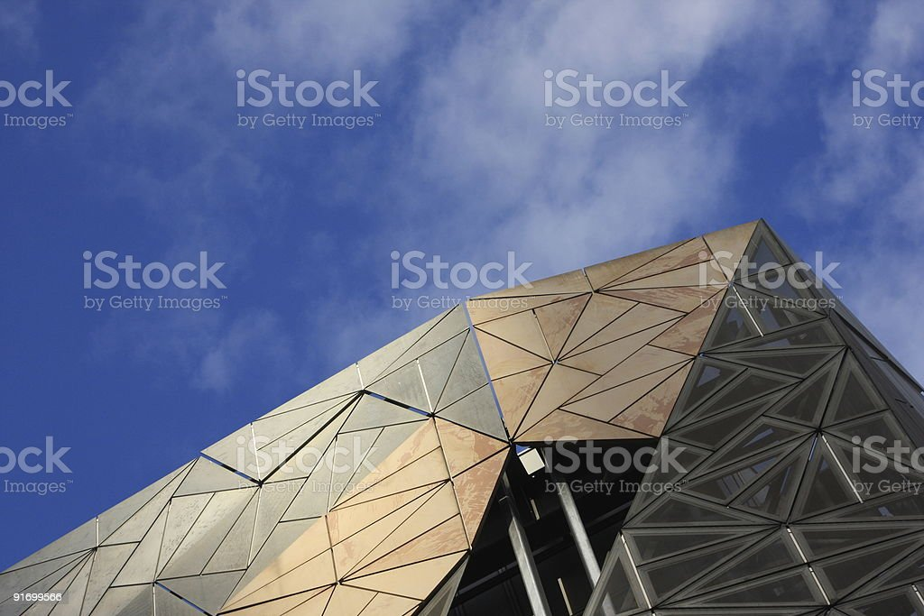 Federation Square, Melbourne, Australia royalty-free stock photo