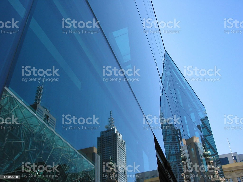 Federation Square, Melbourne royalty-free stock photo