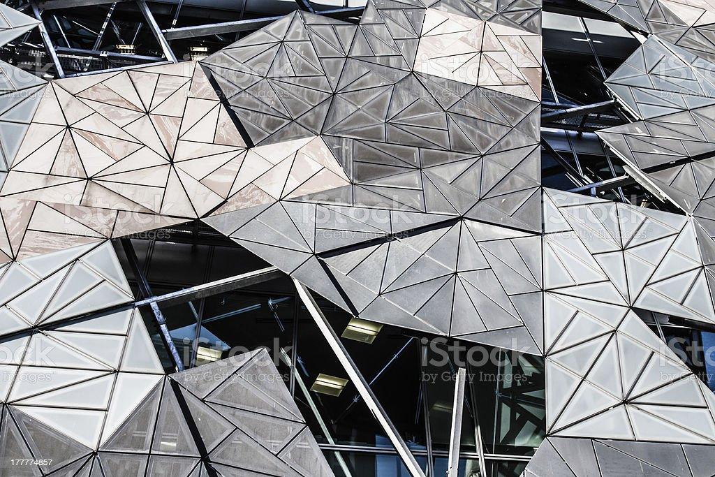 Federation Square Melbourne stock photo