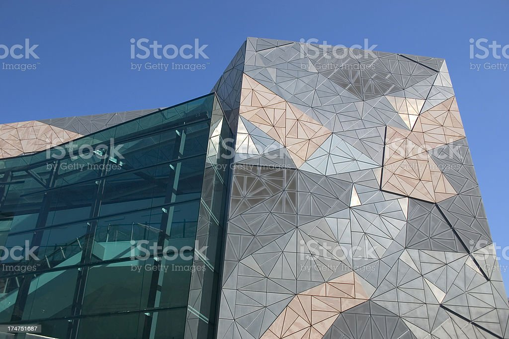 Federation Square royalty-free stock photo