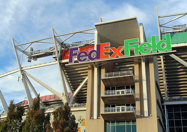 FedEx Field Landover, MD, USA - September 23, 2014: FedEx Field in Landover, Maryland. FedEx Field is a football stadium and home of the Washington Redskins of the NFL. washington redskins stock pictures, royalty-free photos & images