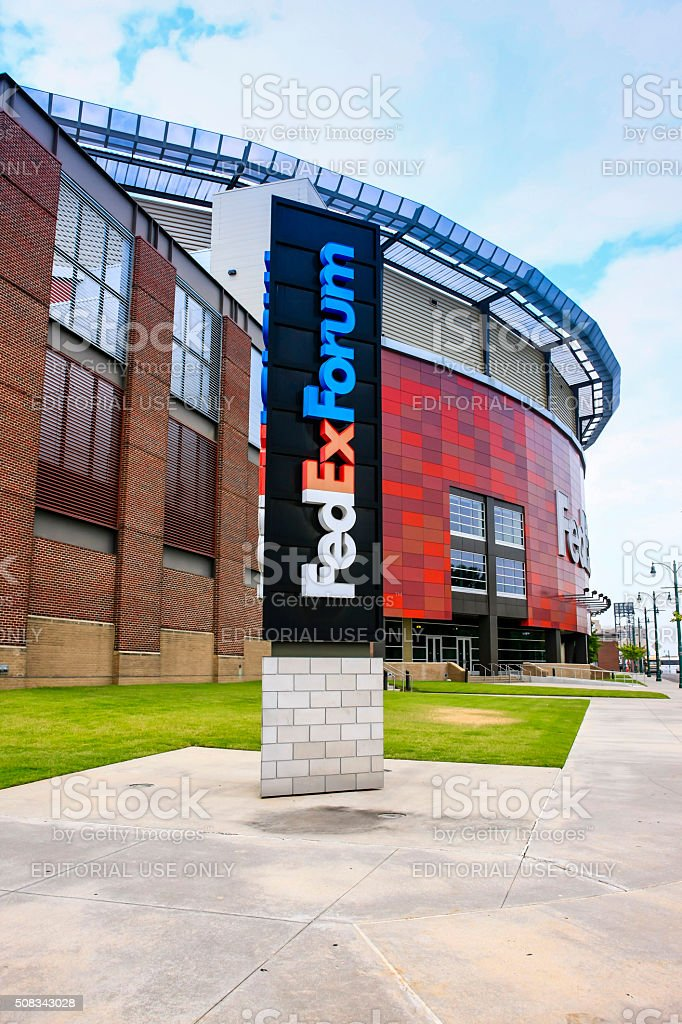Fedexforum Sports Stadium Building In Memphis Tn Stock Photo