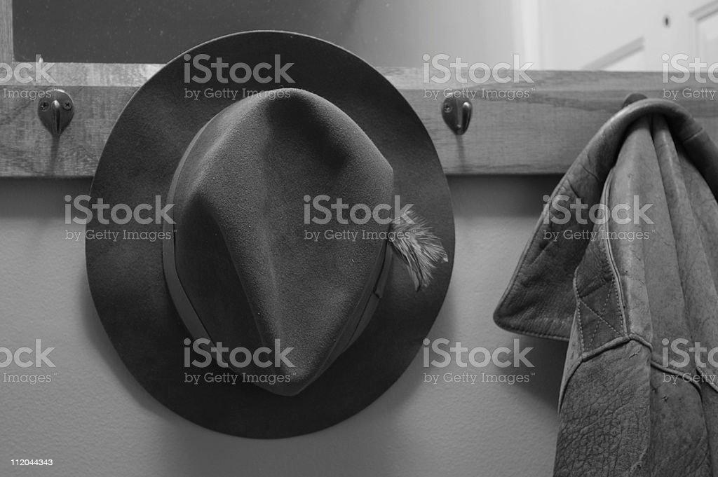 Fedora and old Jacket royalty-free stock photo