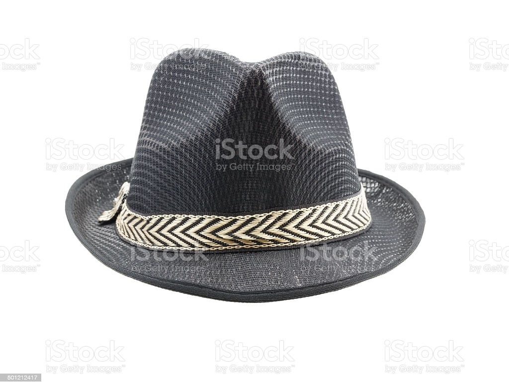 Fedora hat isolated on white background stock photo