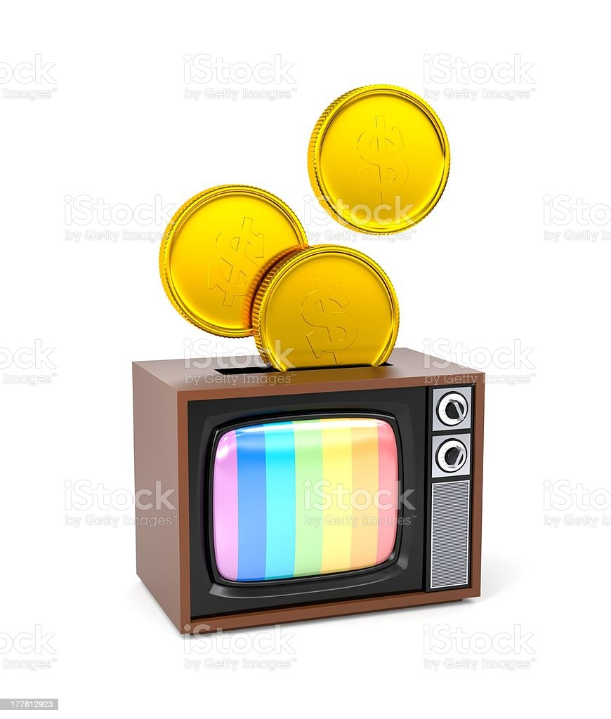 Fee for TV or as a piggy bank royalty-free stock photo