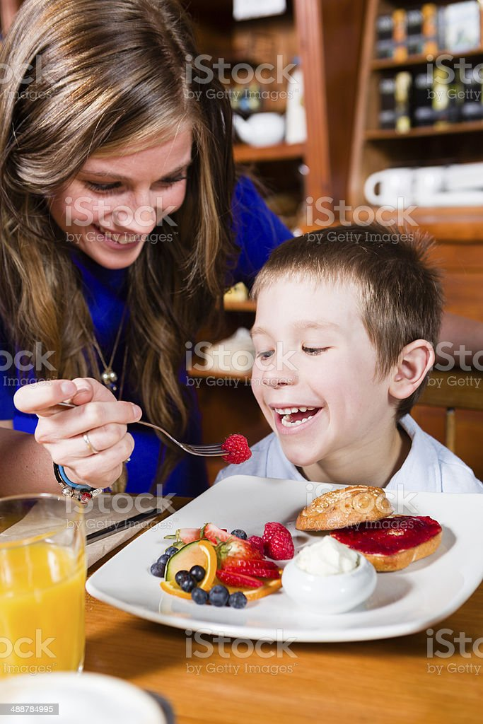 Feed her boy royalty-free stock photo
