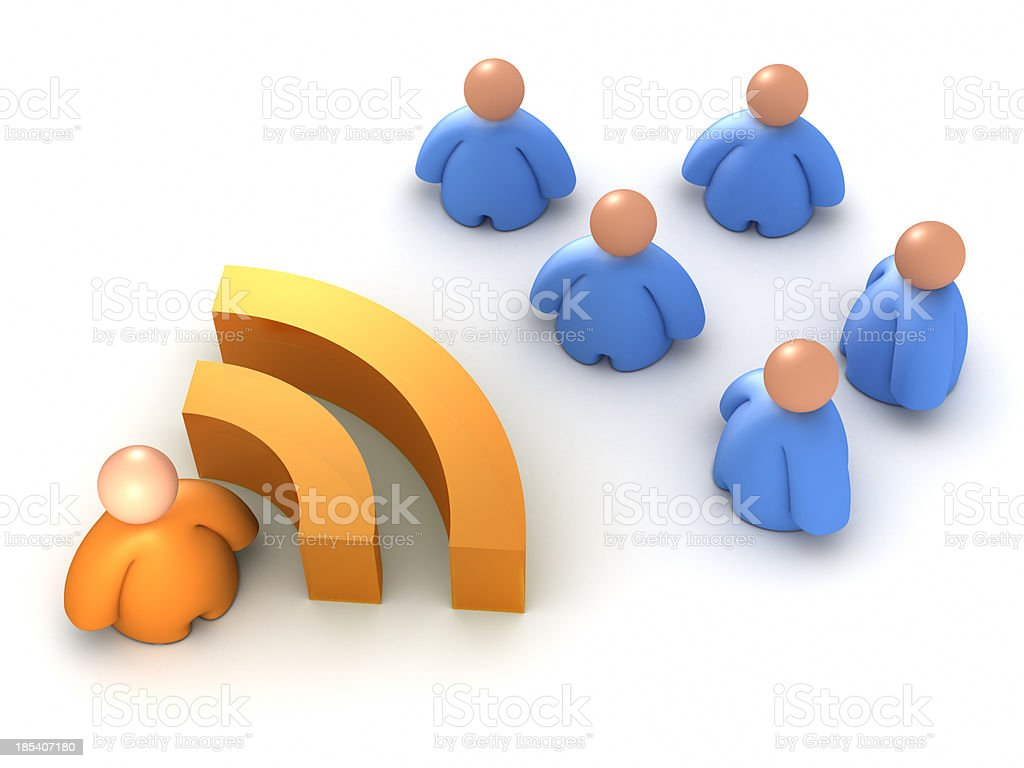 RSS Feed icon royalty-free stock photo