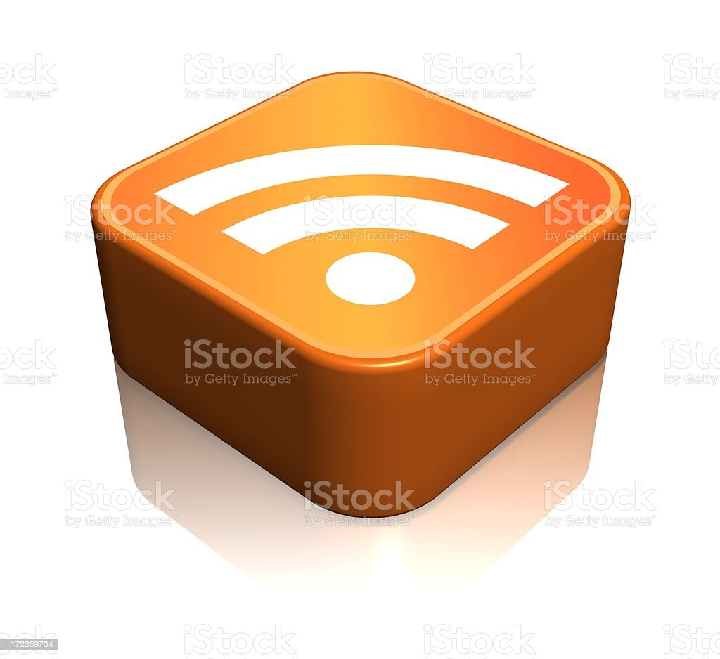 Feed or Rss Icon royalty-free stock photo