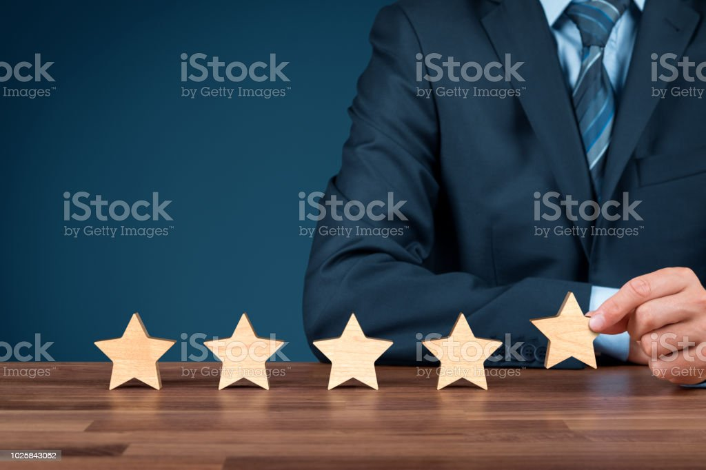 Feedback and rating concept stock photo