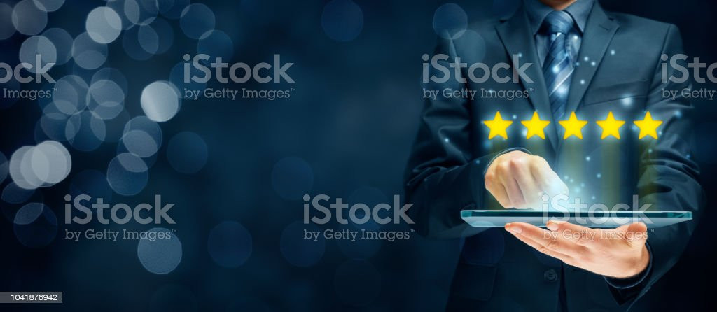 Feedback and review concept stock photo