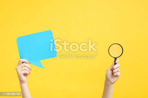 istock feedback assessment survey bubble speech magnifier 1129785750