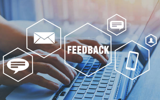 feedback concept, reputation management. - icone foto e immagini stock