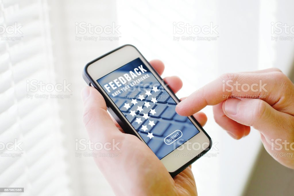 feedback concept, writing review stock photo
