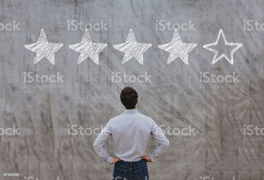 feedback rating concept stock photo