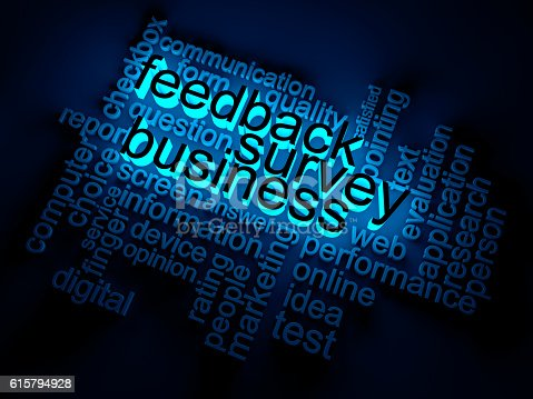 Feedback  Survey  Business wordclouds concept