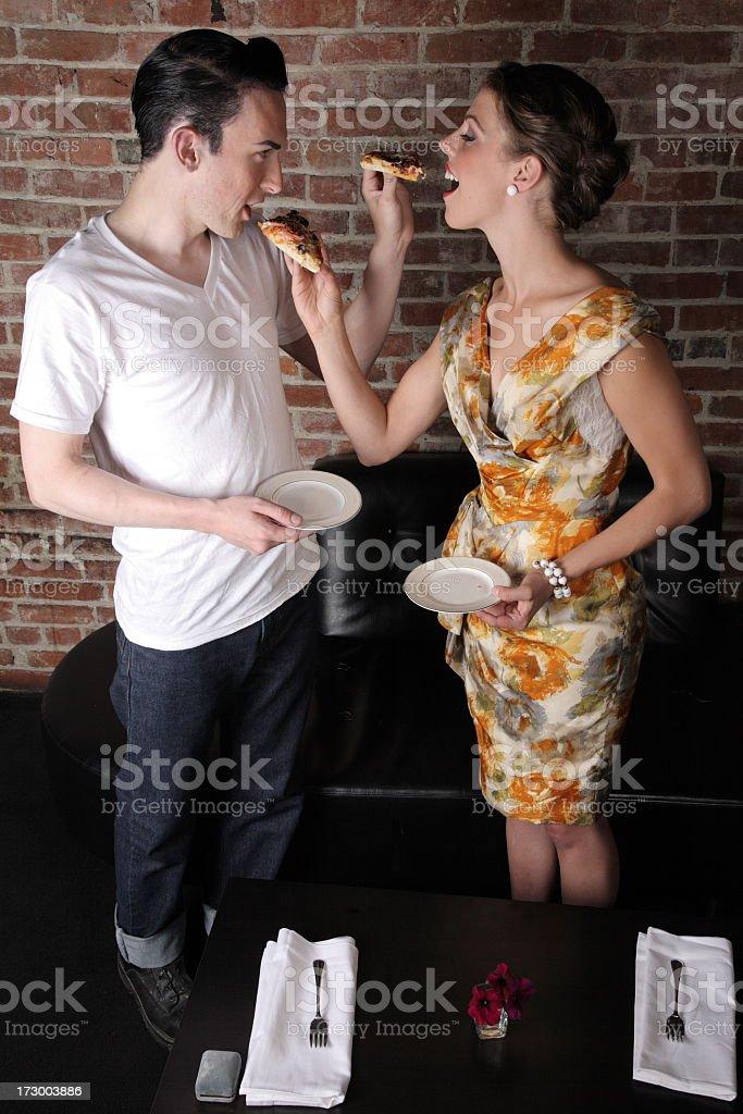 Feeding each other royalty-free stock photo