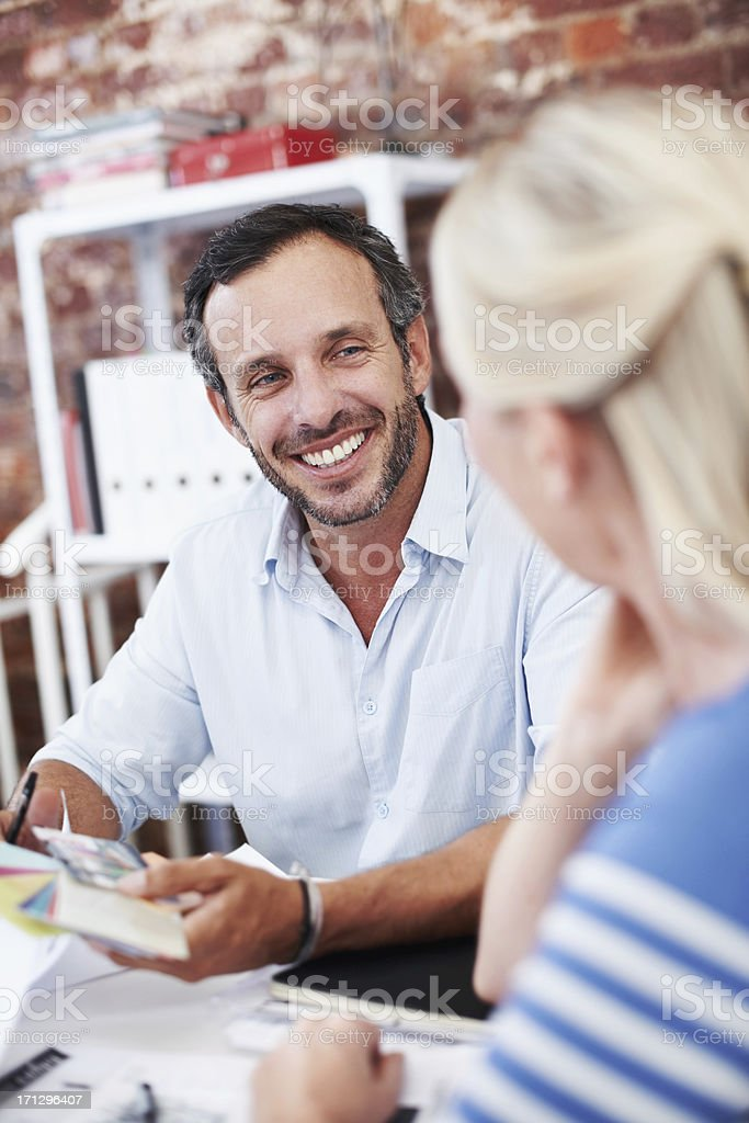 Feeding off each other's creativity royalty-free stock photo