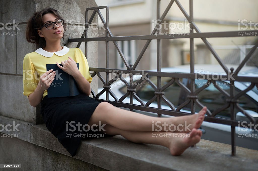 Feel comfortable and read stock photo