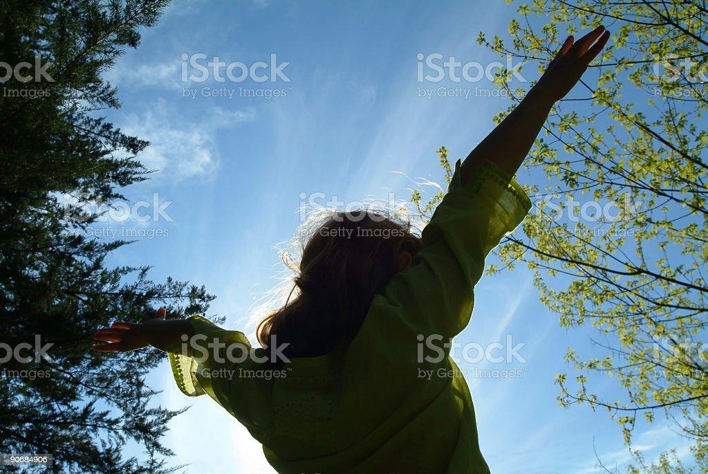 I feel free! royalty-free stock photo