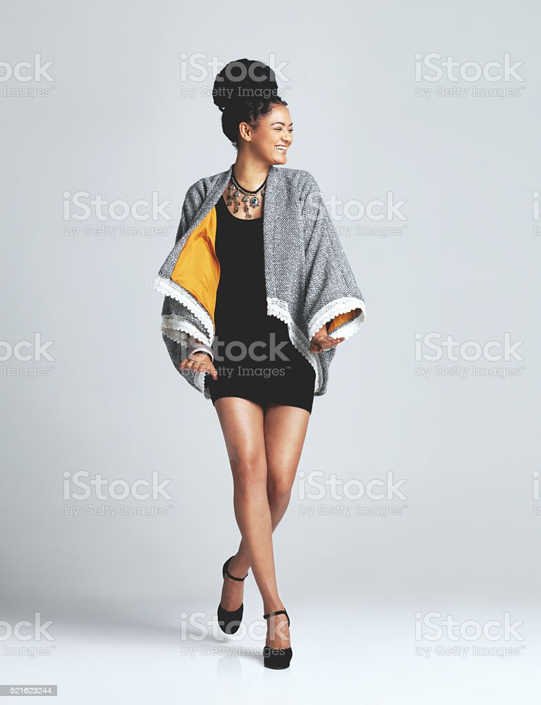 Feel good fashion stock photo