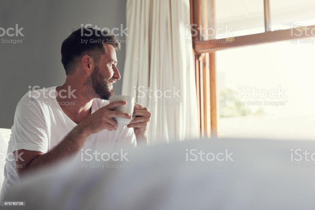 Ich fühle mich dankbar aufwachen, um das - Lizenzfrei Bart Stock-Foto