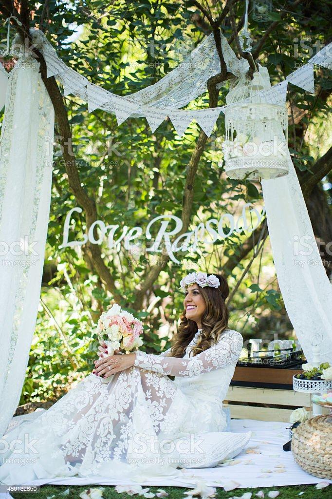 I feel like a princess! stock photo