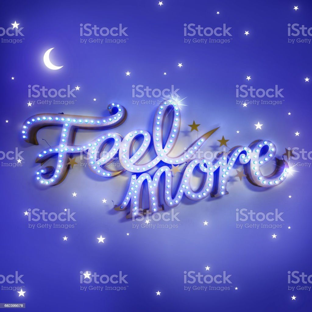 Feel More Short Phrase royalty-free stock photo