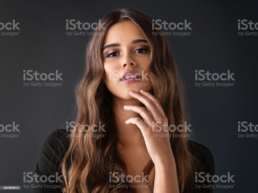 I feel sexiest when I'm being myself stock photo