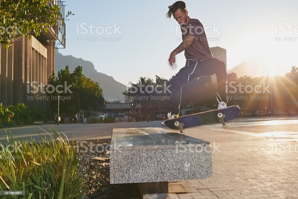 Feel the fear and do it anyway stock photo