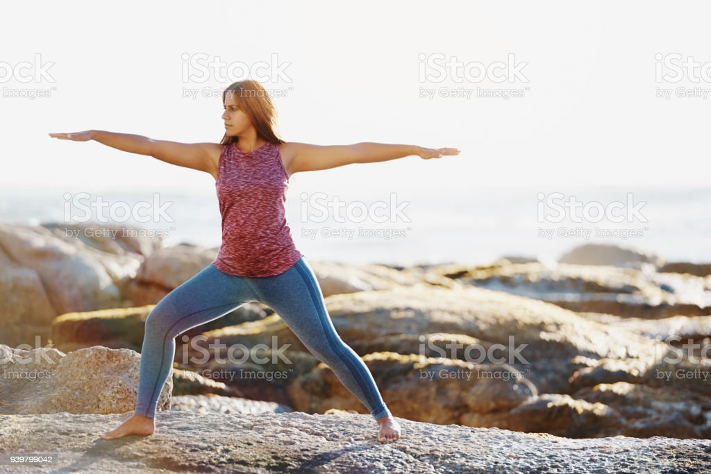 Feel the good energy that flows from fitness stock photo