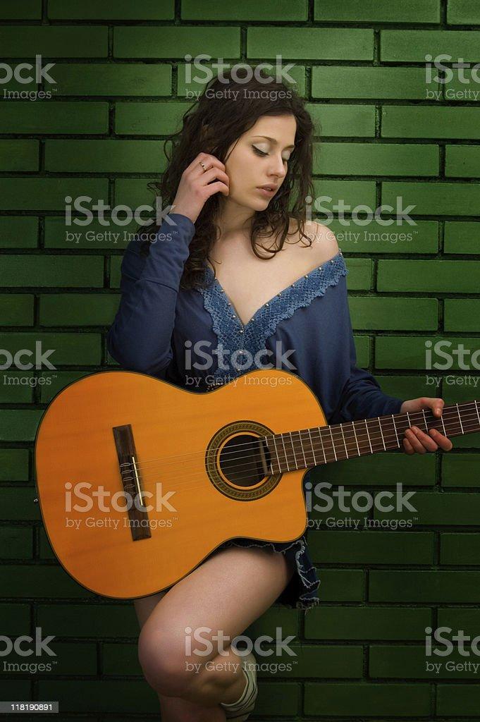 Feel The Guitar stock photo