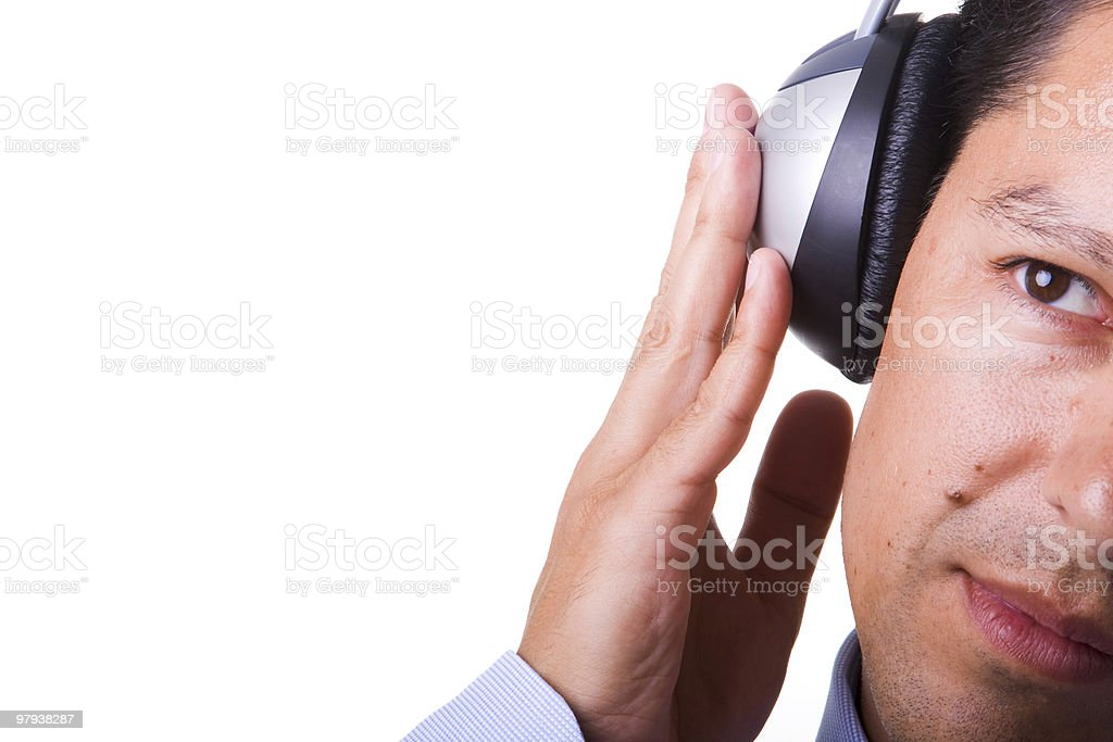 Feel the music royalty-free stock photo