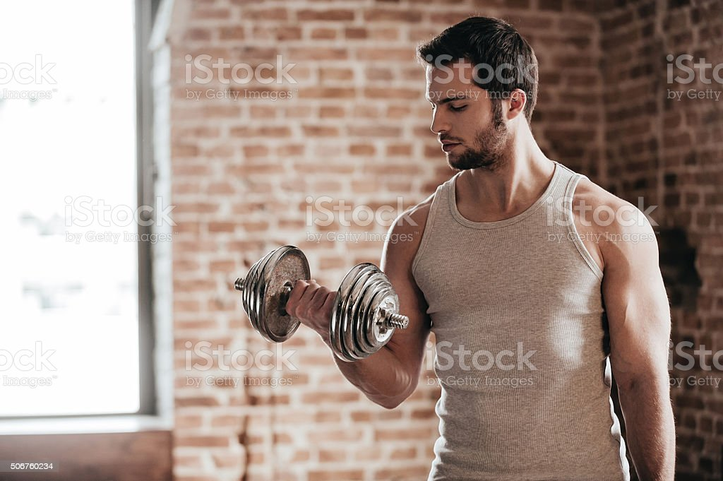 Feel the power. stock photo