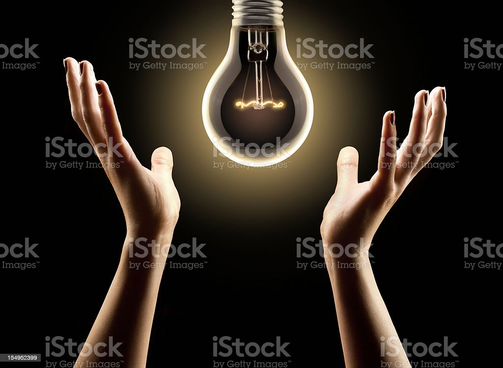 Feel the Warm Glow of New Ideas royalty-free stock photo