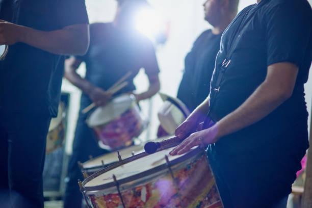 Feel their rhythm stock photo