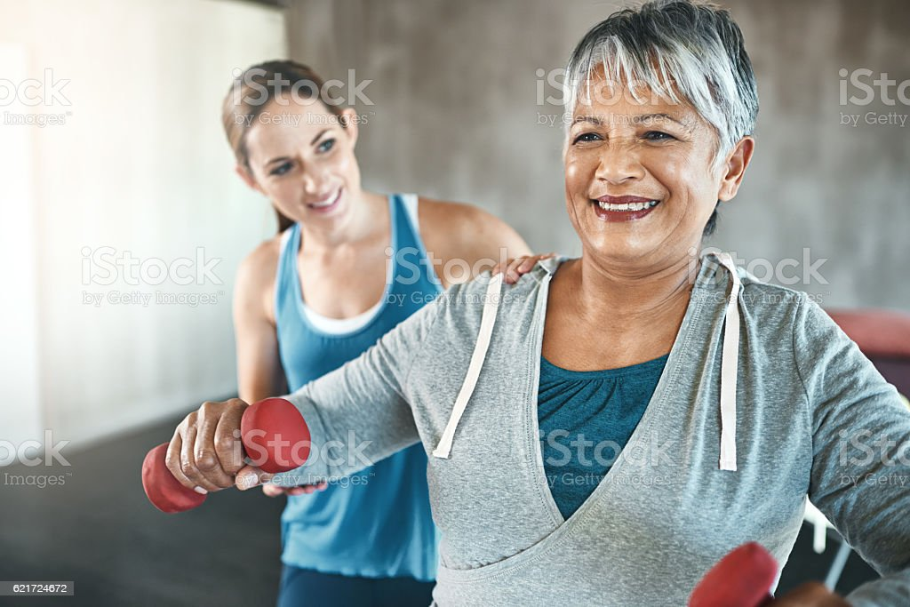 Feel your best at any age with regular exercise stock photo