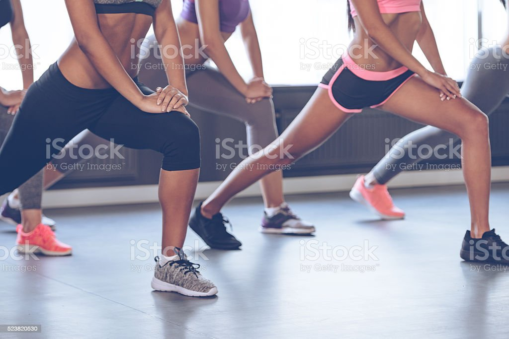 Feel your muscles. stock photo