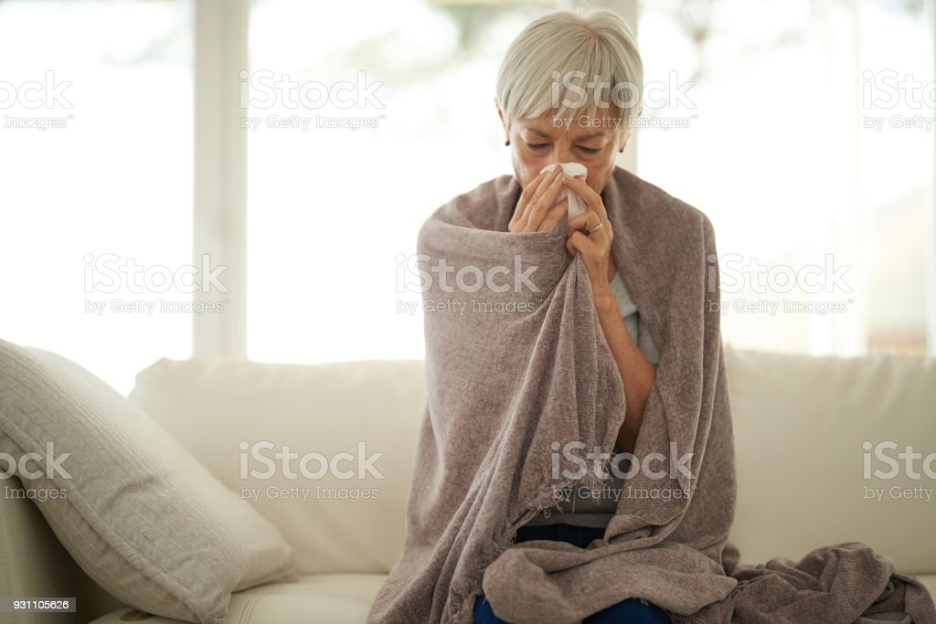 Feeling absolutely dreadful stock photo